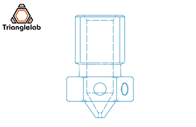 trianglelab Top quality V6 Nozzle for 3D printers hotend 4pcs/lot 3D printer nozzle for E3D hotend titan extruder prusa i3 mk3 5