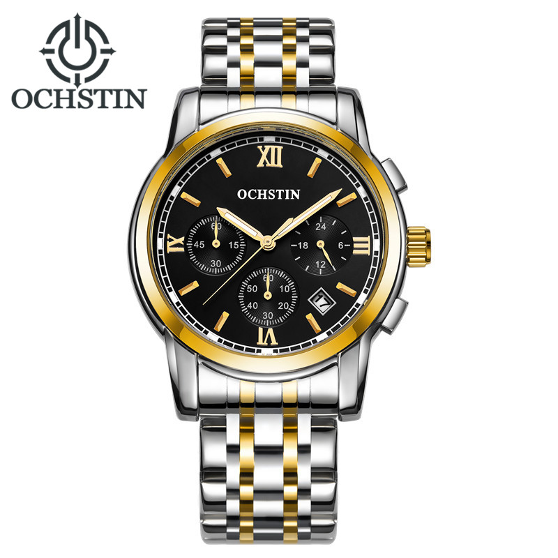 OCHSTIN Men Watches Top Brand Luxury Business Sport Chronograph Quartz Man Wrist Watch Male Calendar Clock Relogio Masculino 2017 ochstin luxury watch men top brand military quartz wrist male leather sport watches women men s clock fashion wristwatch