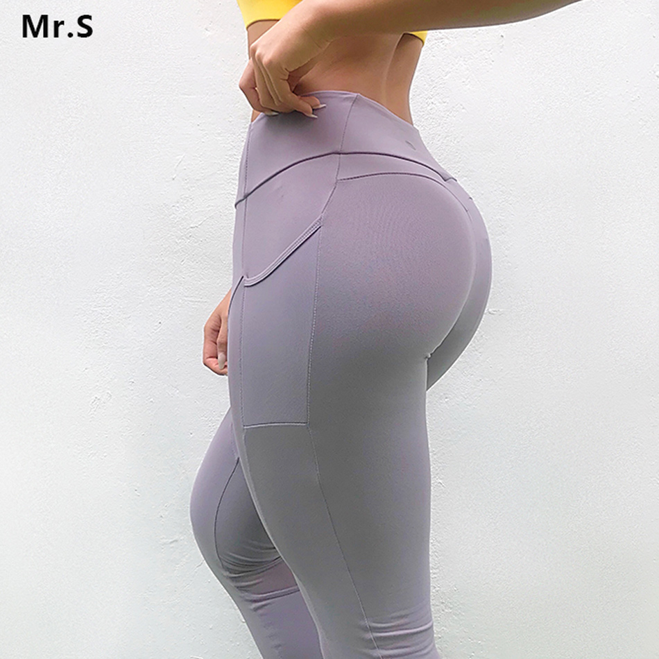hot-selling fashion no sale tax vivid and great in style US $18.79 50% OFF|Women Mesh Pocket Gym Tights Purple Yoga Leggings Energy  Tummy Control Sports Sweat Pants Scrunch Butt Booty Legging for Workout-in  ...
