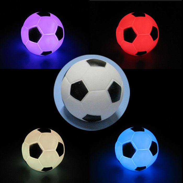 Modern Football LED Colorful Night Light Shape Light Lamp Night Party Decoration Xmas Gift for baby children with box