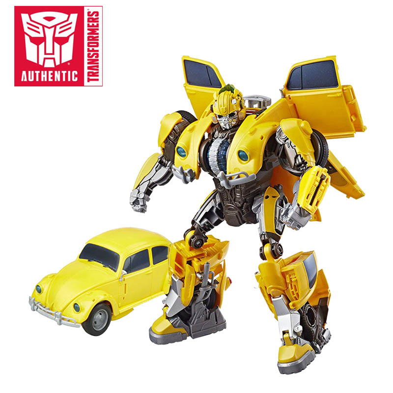 28cm Transformers Toys Movie 6 Electronic Power Charge Bumblebee Action Figure Spinning Core Lights and Sounds