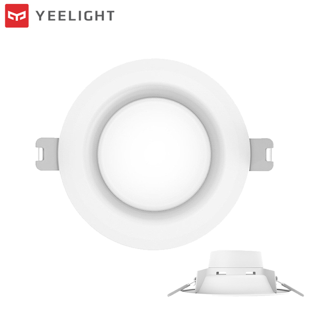 Original XIAOMI YEELIGHT 5W Square LED Downlight Round Ceiling Recessed Panel Light AC220V Warm Yellow/Warm White 3000/4000K
