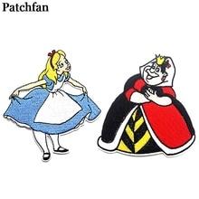 Patchfan Милая Аппликация нашивки Железный На para рубашка одежда вышитый Стикер одежда с героями мультфильмов платье значок A2104
