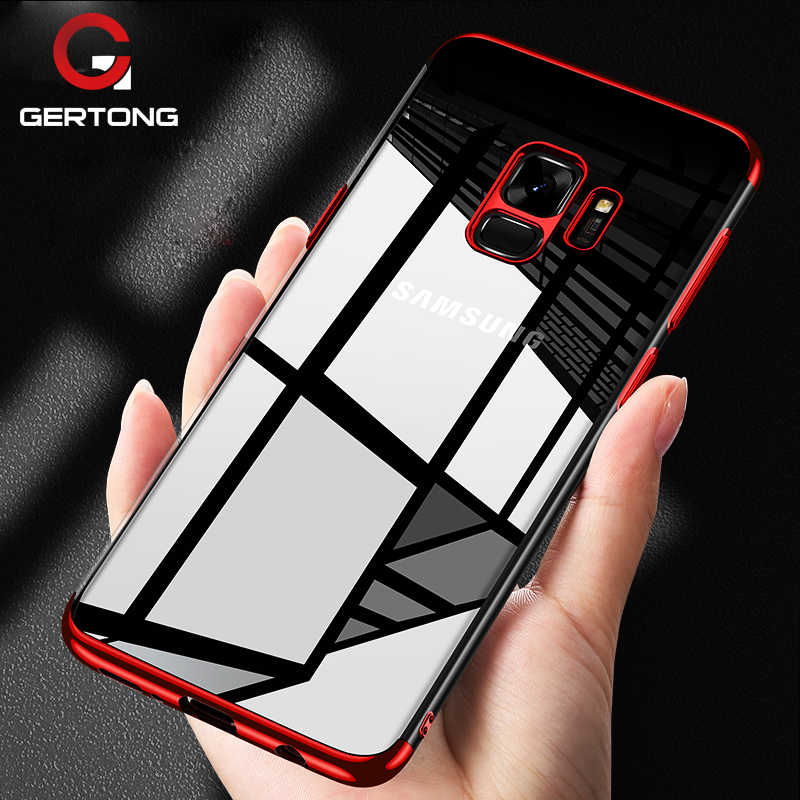 GerTong Premium Transparent Case For Samsung Galaxy A8 Plus 2018 A7 A3 J5 J7 J3 2017 A5 j5 2016 S9 Plus Plating Phone Cases