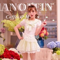 Princess Sweet Lolita Blouse Candy Rain Summer Japanese Style Cute College Style Lapel Grid Chiffon Blouse