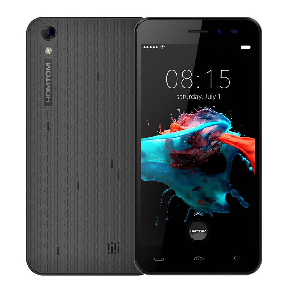 Цена за Homtom ht16 5.0 дюймов сотовый телефон android 6.0 mt6580 quad core 1 ГБ RAM 8 ГБ ROM WCDMA Смартфон 8MP Камерой Мобильного Телефона 3000 мАч