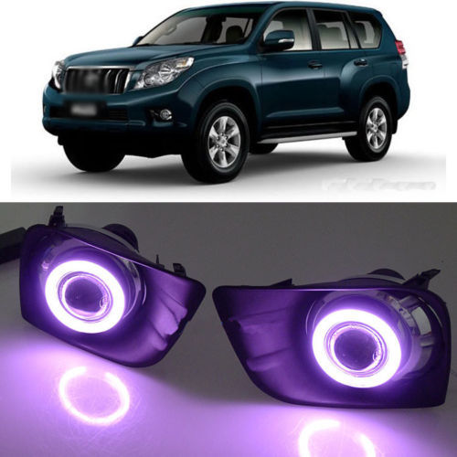 Ownsun Super COB Fog Light Angel Eye Bumper Projector Lens for Toyota Land Cruiser 150/Prado 4000/FJ150 ownsun innovative super cob fog light angel eye bumper projector lens for toyota camry