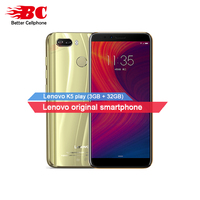 Original Lenovo K5 Play Android8 MSM8937 Octa Core 1.4G 5.7inch IPS Fingerprint Rear13.0MP 3GB+32GB support watch 9 Mobile Phone