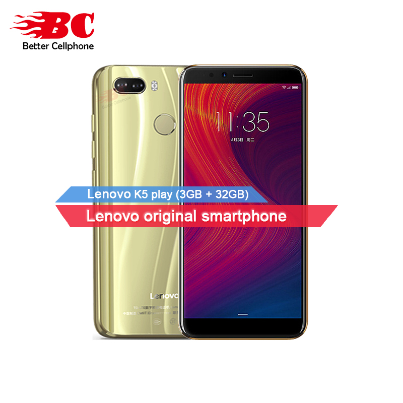 Original Lenovo K5 Play Android8 MSM8937 Octa-Core 1.4G 5.7inch IPS Fingerprint Rear13.0MP 3GB+32GB support watch 9 Mobile Phone