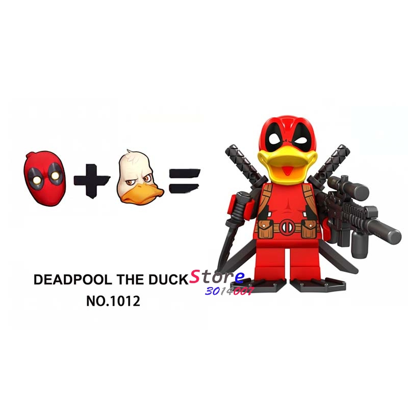 Single star wars super hero marvel dc comics Avengers Deadpool Duck  building blocks models bricks toys for children kits