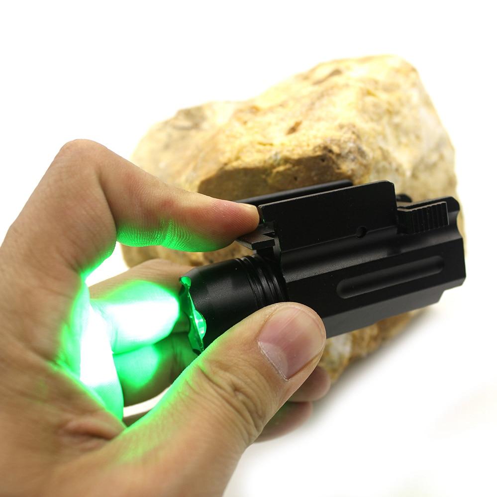 Libération rapide Led Cree Picatinny tisserand 21mm Rail fit glock chasse en plein air tactique vert lampe de poche
