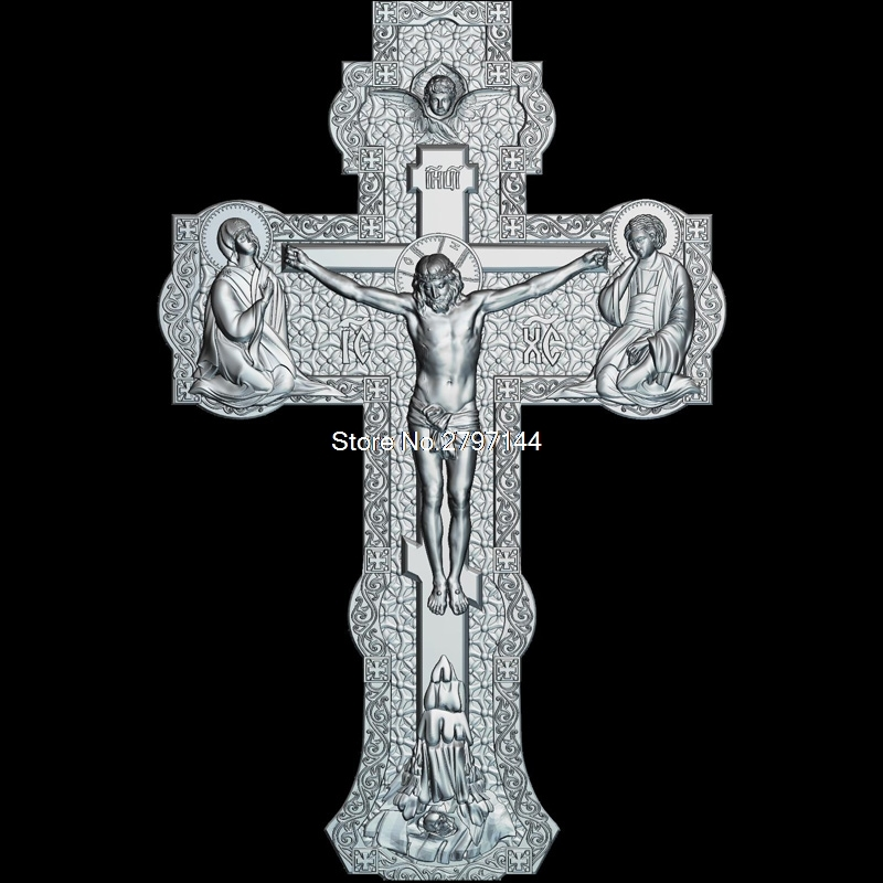 High Quality New 3D Model For Cnc Cross_V2 3D Carved Figure Sculpture Machine In STL File Religion