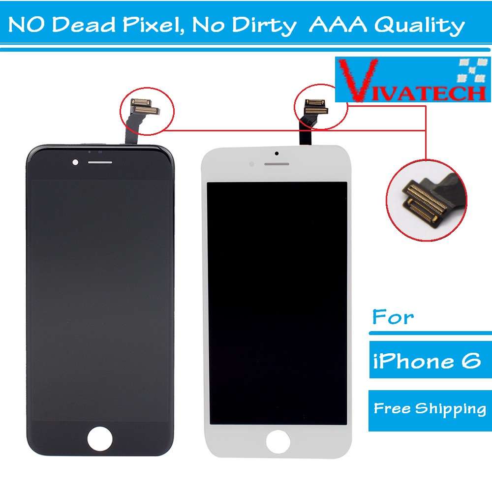 10PCS No Dead Pixel Grade AAA 5.5 inch LCD For iPhone 6 plus Display touch screen with digitizer assembly replacement parts 5pcs lot grade aaa no dead pixel for iphone 6 plus lcd display with touch screen digitizer assembly black