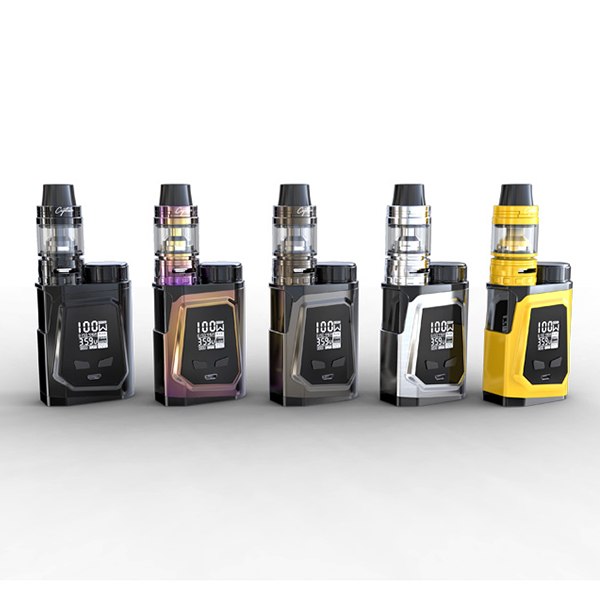 original IJOY CAPO 100 KIT with Ijoy CAPO 21700 box mod and captain mini sub ohm tank and 21700 battery e cig full kit шапка capo capo ca993cunto41