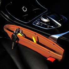 2pcs Creative Car Storage Box Leather Auto Car Seat Gap Pocket Catcher Organizer Leak-Proof Storage Box Auto Bag Container 2017