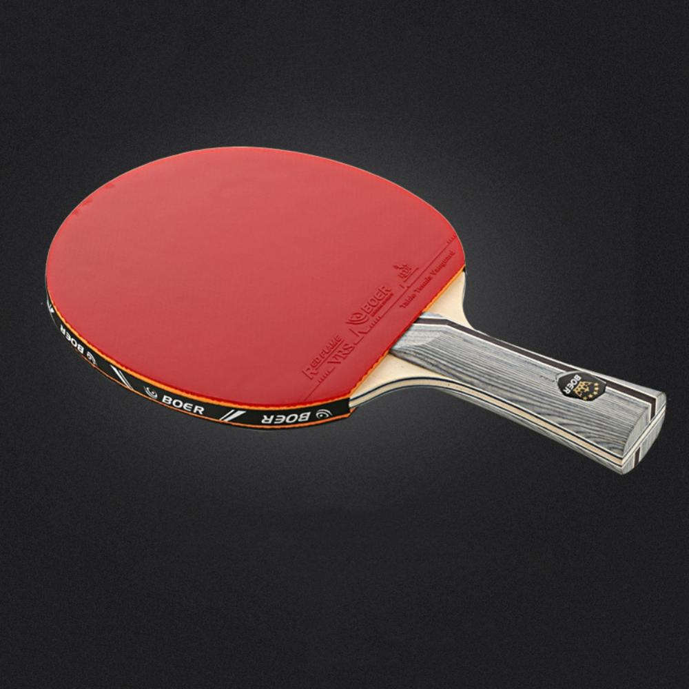 Table Tennis Racket Lightweight Powerful Ping Pong Paddle Bat horizontal/Long Straight Grip Table Tennis Training Accessories
