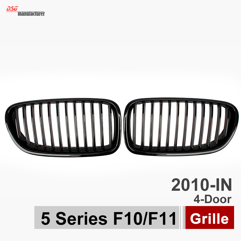 5 Series F10 F11 Wide Racing Grill Gloss Black Grille for BMW 2010 + 523i 528i 535i 550i 520d 525d 530d 535d Front Bumper Mesh wljh 19x white canbus dome footwell trunk lighting bulb led car interior light kit for bmw f10 5 series 2010 550i 535i 528i m5