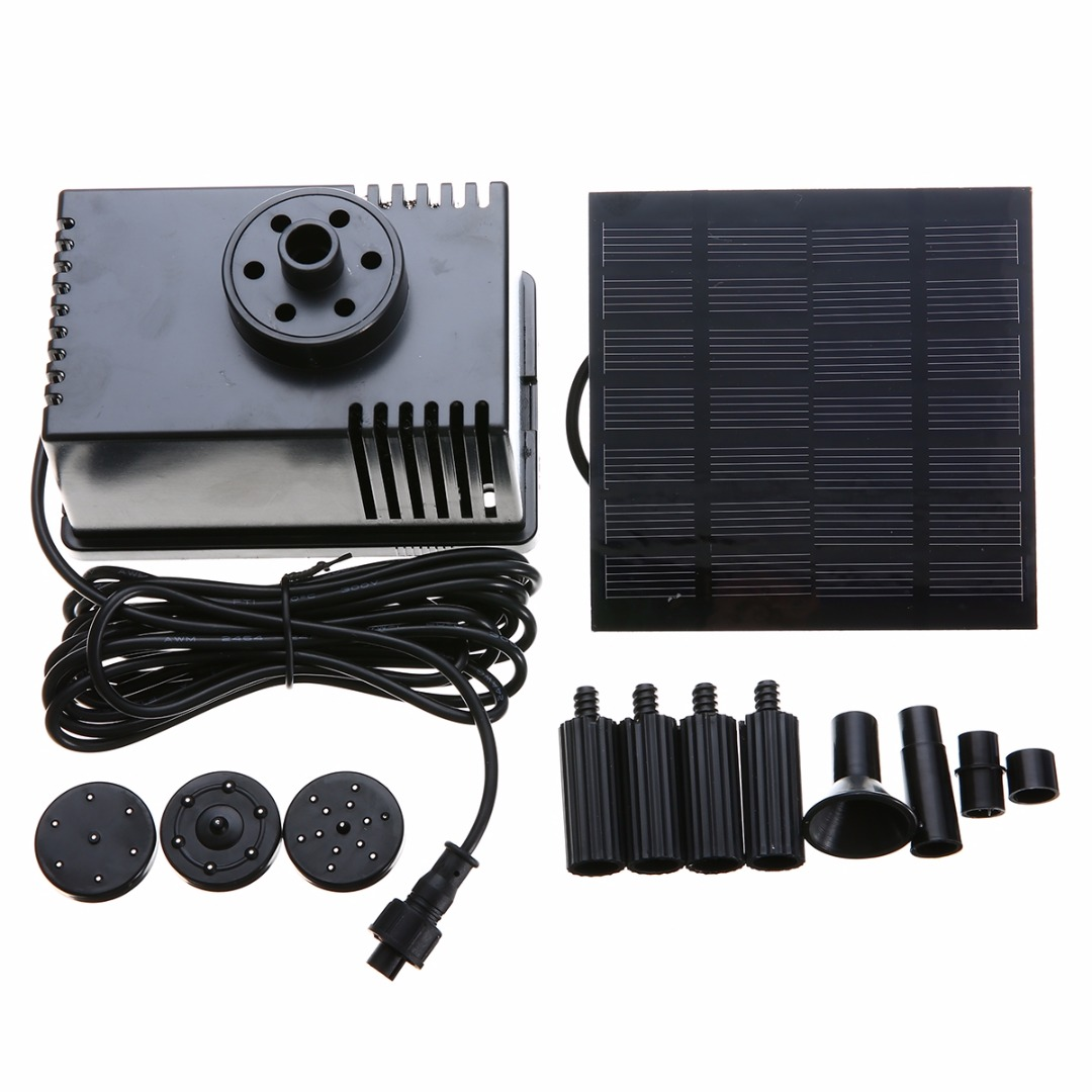 1set 180L/h Solar Pump Watering kit Power Fountain Water Pump Pool Pond With Filter Panel Kit For Garden Water Fountain