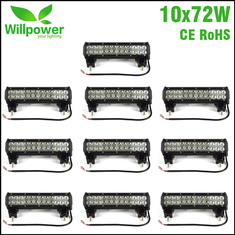 10pcs high power double rows IP67 waterproof truck tractor 4x4 Offroad combo beam 12 Inch off