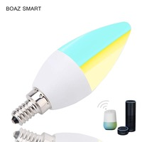 Boaz EC E14 Smart Wifi lED Candle Light Bulb Tuya Smartlife Dimmable bulb Voice Control by Alexa Echo Google Home IFTTT Siri