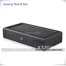 12 Wooden Watch Display Case Luxury Watch Box Watch Organizer Bithday Gift 12 Slots Clear Lid
