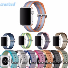 CRESTED Woven Nylon strap band For Apple Watch 42mm 38mm wrist braclet belt fabric-like nylon watchband for iwatch 2/1/Edition