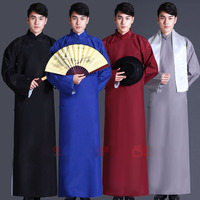 Children and Adult Multicolor Chinese Style Traditional Cross Talk Clothing Costumes Male Long Gown Old Shanghai Men's Clothes
