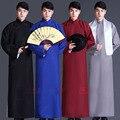 Crianças e Adultos Multicolor Estilo Chinês Tradicional Conversa Cruzada Roupas Trajes de Roupas Masculinas dos homens Vestido Longo Velha Xangai