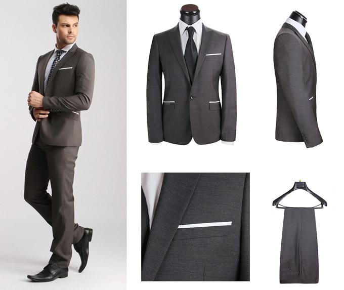 Western Style Mens Suits Brand Top Wooltuxedo Business Blazer Coat