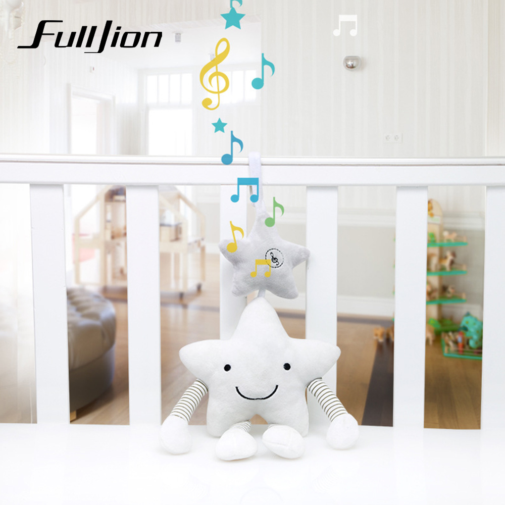 Fulljion Baby Rattles Mobiles Toddler Toys Star Strollers Rattle Toy For Bebe Soft Musical Infant Crib Educational Bed Bell Doll