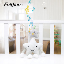 Fulljion Baby Rattles Mobiles Toddler Toys Star Strollers Rattle Toy For Bebe Soft Musical Infant Crib Educational Bed Bell Doll(China)