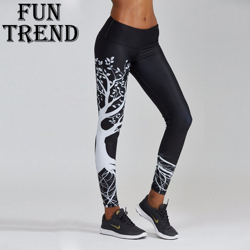 Leggings Female Yoga Pants Yoga Leggings Printed Sport Pants Running Pants Gym Leggings Fitness Workout Leggings Sports Clothing