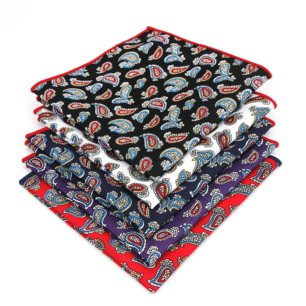 Men Business Colorful Paisley Hanky Handkerchief Wedding Gentleman Pocket Square YFTIE0221