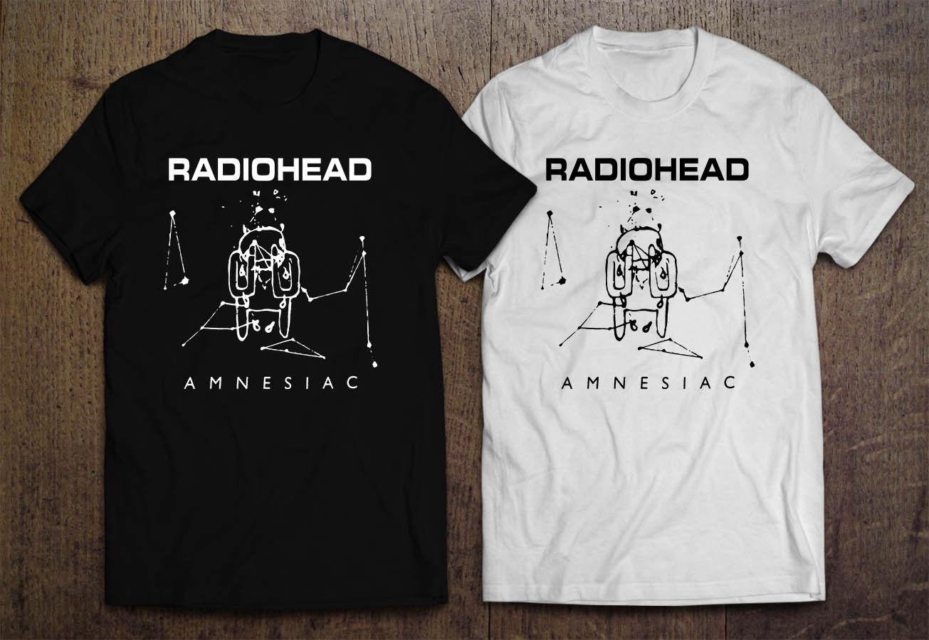 Radiohead Amnesiac Ok Computer Men'S Black White T Shirt Cool Casual Pride T Shirt Men Unisex New Fashion Tshirt Loose Size Top