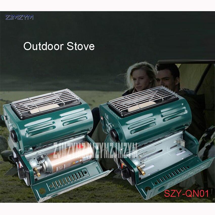 SZY-QN01 En Plein Air Unique portable cuisinière à gaz pour le chauffage et chauffage seulement piézoélectrique électronique d'allumage gaz butane Applicable