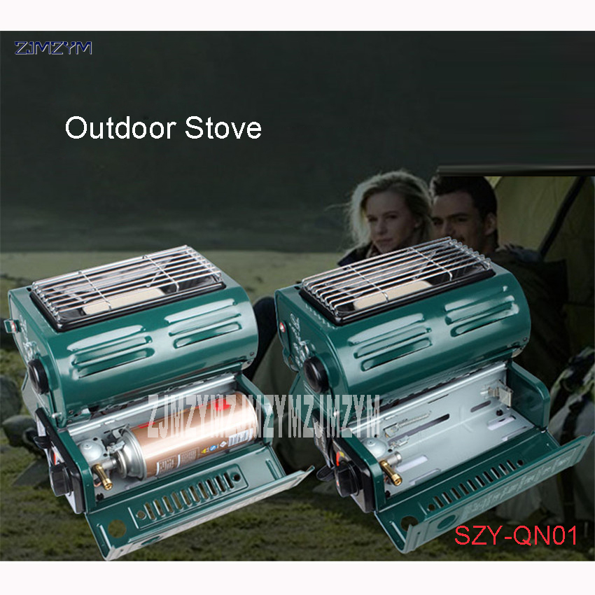 SZY-QN01 Outdoor Single portable gas stove for heating and heating only piezoelectric electronic ignition butane gas Applicable electronic stove colud heating plat bottom flask and beaker 220v 1000w