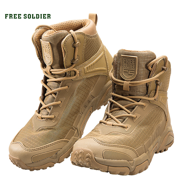 Soldat gratuit sports de plein air camping randonnée tactique militaire hommes bottes chaussures descalade léger botte de montagne