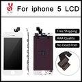 10 pcs grade aaa top qualidade screen display lcd para iphone 5 com substituição digitador assembléia branco preto cor grátis dhl