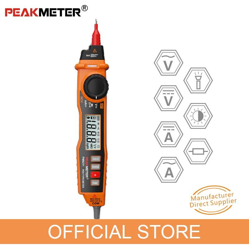 PEAKMETER MS8211 multimètre digital 2000 Compte Stylo Type avec Sans Contact ACV/DCV Électrique testeur de poche