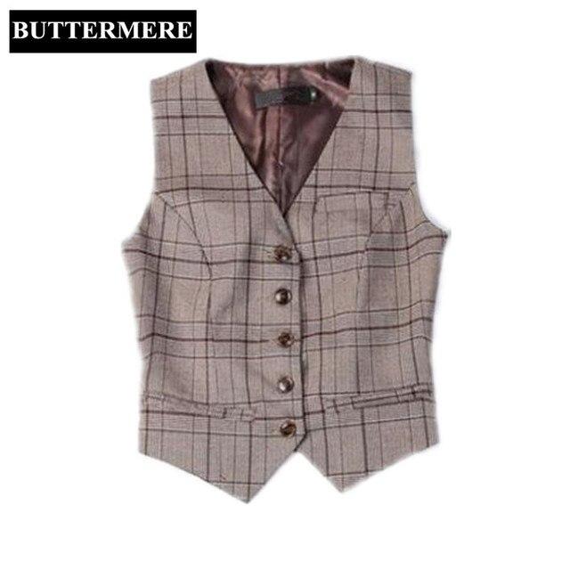 BUTTERMERE-Marque-V-tements-Femmes-Gilet-Costume-Dames-Plaid-Gilet-de -Travail-Styles-Caf-Printemps-Gilet.jpg 640x640.jpg d64e7dec274