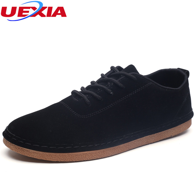 UEXIA High Quality Men Flats Shoes Drive Breathable Fashion Men Casual Zapatos Hombre Sneakers Super Fiber Leather Laces-up Male valstone 2018 men leather casual shoes hip hop gold fashion sneakers silver microfiber high tops male vulcanized shoes sizes 46