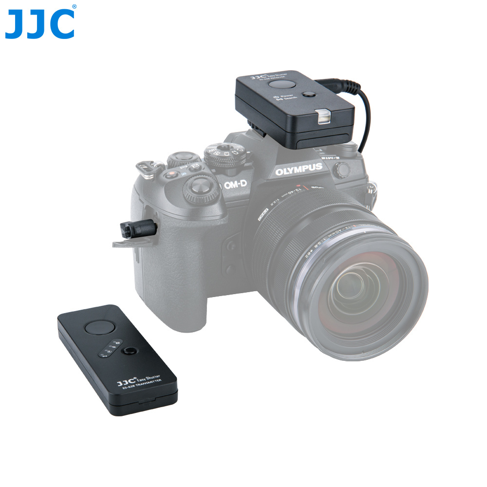 цена на JJC Camera 100 Meters 16 Million Channel RF Wireless Camera Remote Control for OLYMPUS OM-D E-M5 II/OM-D E-M10/OM-D E-M5
