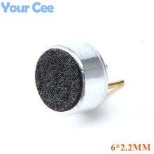 200 шт. 6*2,2 мм конденсаторный микрофон Electret Pick Up MP3 Микрофон Чувствительность емкостный микрофон для ПК телефона MP3 MP4