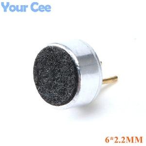 Image 1 - 200 pcs 6*2.2mm הקבל Electret מיקרופון איסוף MP3 מיקרופון רגישות קיבולי מיקרופון למחשב טלפון MP3 MP4