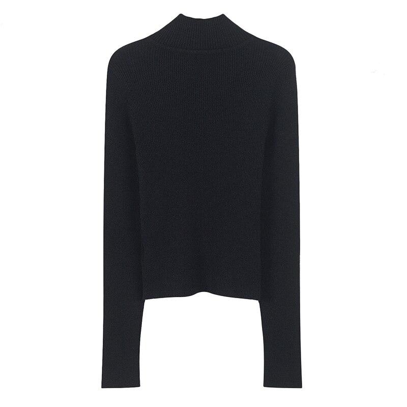1907 2018 Sexy Pullover Il Ww Di Whitney Modo Pull Autunno Scava Maglione Streetwear Femme Fuori Bottoni Wang Inverno Donne 4U1wxnwHq