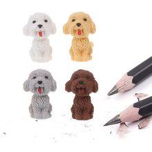 Mini 3D Cão Bonito Dos Desenhos Animados Lápis Borracha Estudante Coreano Papelaria Escolar Suprimentos Correção Eraser Para Presentes Dos Miúdos