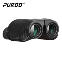 Wholesale PUROO 12X25 HD All-optical Green Film Waterproof Binoculars Telescope for Tourism Binoculars Professional Hunting Scope