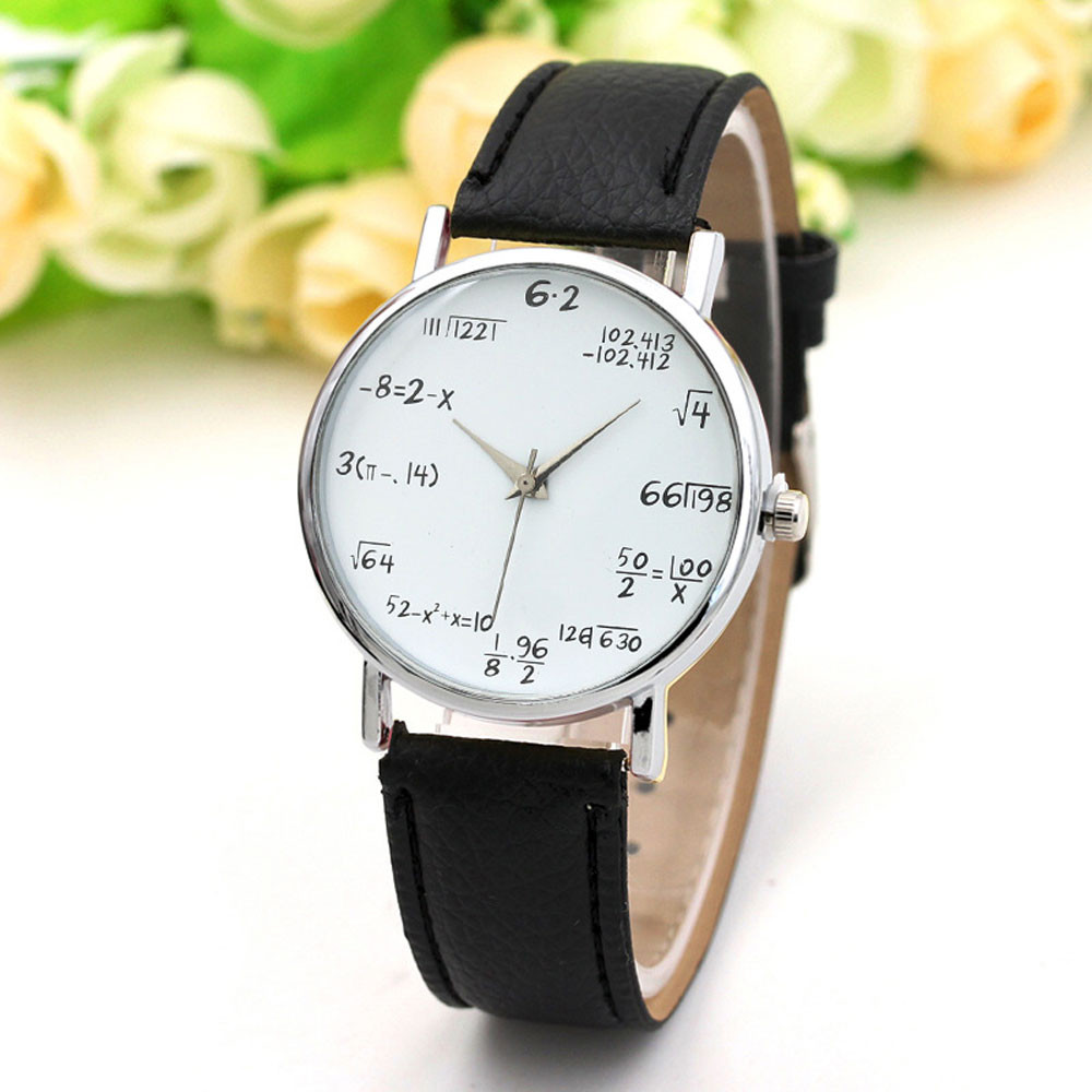 New Unisex Watch Women Men's Watch Mathematical Equation Watch Without Scale Belt Ladies Watch Relogio Masculino Hot Sale 328
