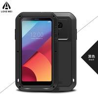 Love Mei Full Body Shockproof Aluminum Alloy Metal Gorilla Glass Cover Case For LG G5 G6 G7 Smartphone