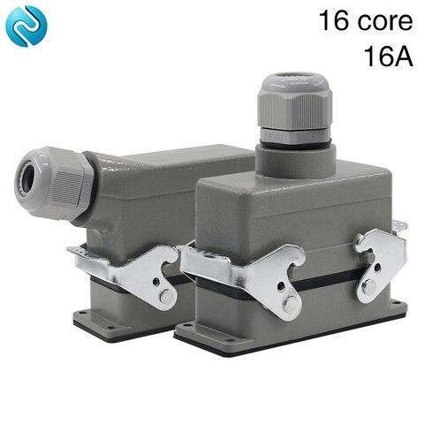 retangular h16b ele 016 1 pesado 16 pin conector linha 16 a500v parafuso pes de